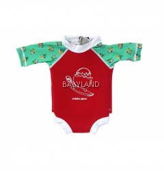 Cheekaaboo Summer Paradise Snugbabes Suit Red/Toucan 15-18M (M)