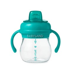 Oxo Tot Soft Spout Cup with Removable Handles (Aqua) 4m+