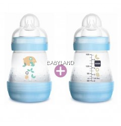 Mam Easy Start Baby Bottle Anti-Colic 160ml 0m+ (Blue) Twin Pack