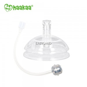 Haakaa Premium Silicone Pump and Bottle Pack (Grey)