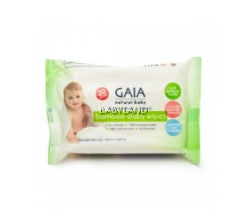 Gaia Natural Baby Wipes (20's)