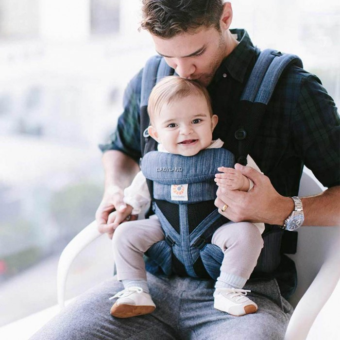 Ergobaby Omni 360 Baby Carrier All In One Cool Air Mesh Indigo Weave