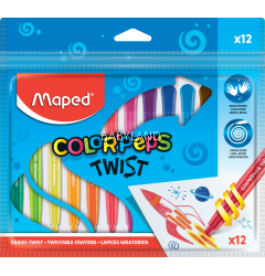 Maped Color Peps' Twistable Crayons (12pcs)