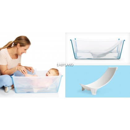 Stokke Flexi Bath Bundle Tub with Support Transparent (Blue)