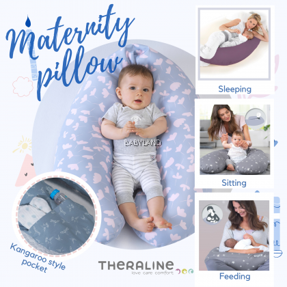 Triangle Blue Doomoo Pregnancy Back//Belly Support Pillow