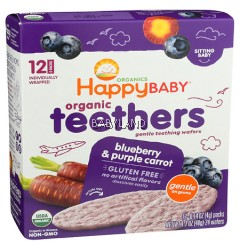 Happy Baby Organic Teethers Blueberry & Purple Carrot
