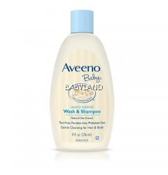 Aveeno Baby Lightly Scented Wash & Shampoo 12oz