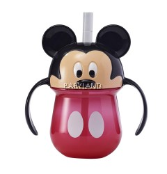 Disney Mickey Mouse Straw Trainer Cup with Handle 270ml
