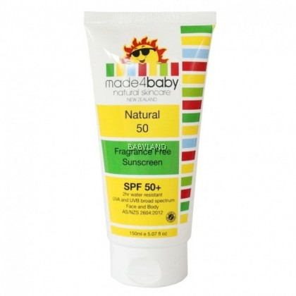 Made4baby Fragrance Free Sunscreen SPF50 (150ml)