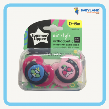 Tommee Tippee Closer To Nature Air Style Soother (0-6m) (2pcs)