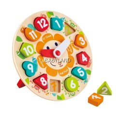 Hape Chunky Clock Puzzle 3Y+