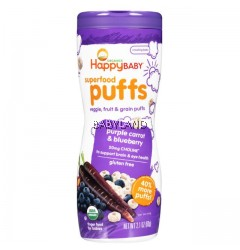 Happy Baby Puffs Purple Carrot & Blueberry (60g / 2.1oz)