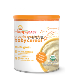 Happy Baby Organic Probiotic Baby Cereal Multi-Grain (198g)