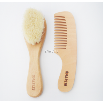 Snapkis Baby Wooden Brush & Comb Set