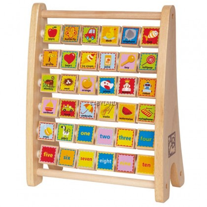 Hape Alphabet Abacus Wooden Counting Toy 3yrs+