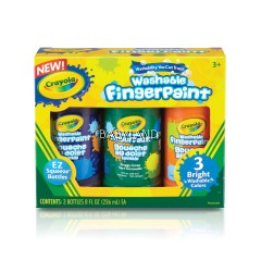 Crayola Finger Paint Bright Colors (3Pcs)