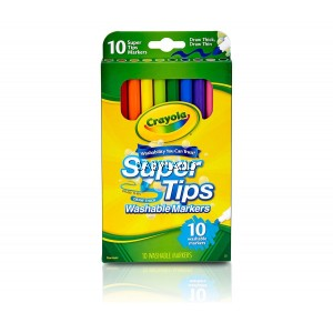 Crayola Super Tips Washable Markers (10Pcs)