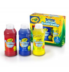 Crayola Finger Paint Bold Colors (3Btls)