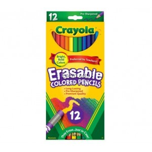 Crayola Erasable Colored Pencils (12Pcs)