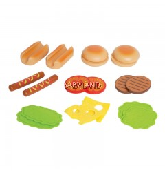 Hape Hamburgers & Hotdogs 3yrs+ (18Pcs)