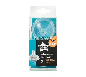 Tommee Tippee Closer To Nature Bottle Teat - FAST FLOW  6M+ (2pcs)