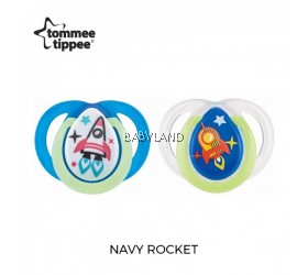 Tommee Tippee Closer to Nature Night Time Soother 0-6M (2pcs)