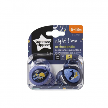 Tommee Tippee Close To Nature Night Time Soother (6-18m) (2pcs)