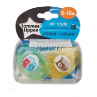 Tommee Tippee Closer To Nature Soother Air Style 6-18M (2Pcs)