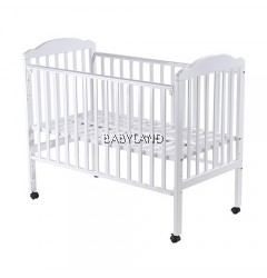 Babylove Solid Wood Cot (White)