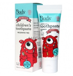 Buds Children's Toothpaste Strawberry (50ml)
