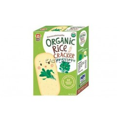Apple Monkey Organic Rice Cracker Spinach - 10 sachets (30g)