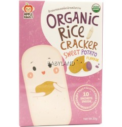Apple Monkey Organic Rice Cracker Sweet Potato - 10 sachets (30g)