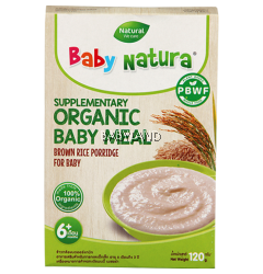 Baby Natura Organic Baby Meal Brown Rice Porridge 6m+ (120g)