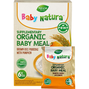 Baby Natura Organic Baby Meal Brown Rice Porridge With Pumpkin 6m+ (120g)