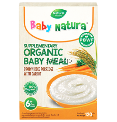 Baby Natura Brown Rice Porridge With Carrot 6M+ (120G)