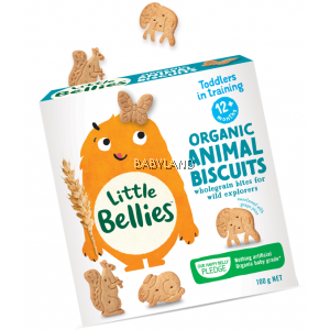 Little Bellies Animal Biscuits 12M+ (100g)