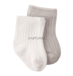 Playette Preemie Bamboo Socks Grey, White (2Pc)