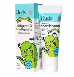 Buds Children's Toothpaste Green Apple (50ml)